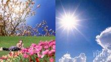 Идва топъл и слънчев април! Живакът ще удари 31 градуса, само в средата на месеца има вероятност за дъжд (ПЪЛНА ПРОГНОЗА)