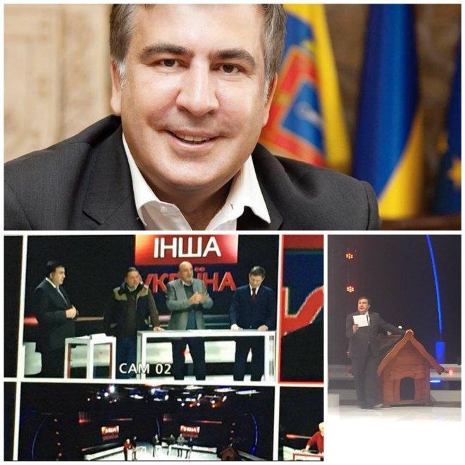 НОВО АМПЛОА: Саакашвили става тв водещ