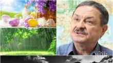 ЕКСКЛУЗИВНО И САМО В ПИК! Топ климатологът доц. Рачев с последна прогноза за Великденските празници - слънце, дъжд и сняг връхлитат България