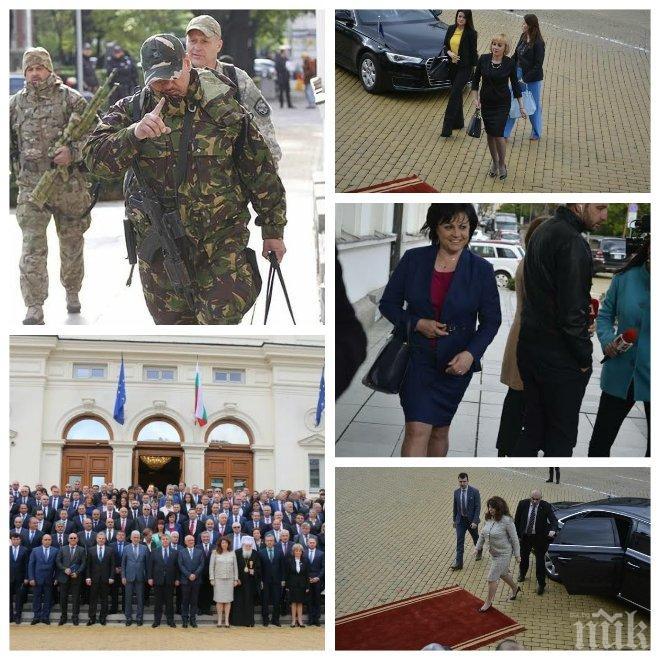 ЕКСКЛУЗИВНО В ПИК! Скъпи тоалети, гафове, селфита и снайперисти в първия работен ден на депутатите (ВИДЕО/СНИМКИ)