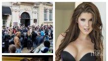 """Американски модел на """"Плейбой"""" пощури децата в София - 1000 души и Крисия я чакат за селфи (СНИМКИ)"""