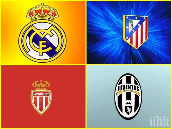 ИЗВЪНРЕДНО! Ясен е жребият за 1/2-финалите на Шампионска лига! Супер сблъсъци