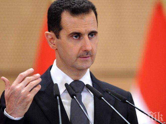 Башар Асад: Русия частично компенсира загубите на сирийската противовъздушна отбрана