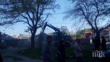 Бутат незаконни къщи в циганско гето в Пловдив