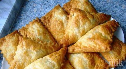 Пирожки с пиле и пармезан