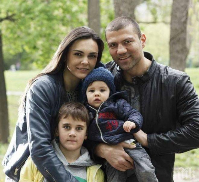 БАЩА ЗА ПРИМЕР! Тервел Пулев гледа бебе в подкрепа на националния волейболен отбор