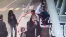 БРУТАЛНО ВИДЕО! Изверг повали с шут пенсионерка на спирка в Бургас