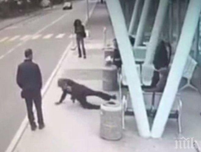 Бруталният Живко, който изрита в гръб пенсионерка в Бургас, остава в ареста
