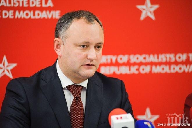 Игор Додон настоя за предсрочни парламентарни избори в Молдова