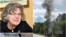 ИЗВЪНРЕДНО И САМО В ПИК! Иван Лечев пред медията ни: Бях с Веселин Веселинов-Еко, когато пламна колата! Гасил е сам джипа, но не е успял!