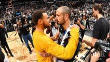 Голдън Стейт на финал в НБА! Стеф Къри почете Джинобили