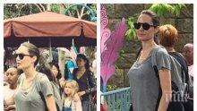 Анджелина Джоли се появи без сутиен в Дисниленд (СНИМКИ)