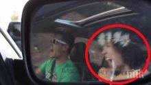 Камерата снима този шофьор и това, което улавя в огледалото за обратно виждане, кара всички хора да полудяват!