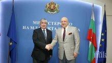Красен Кралев и руският посланик Макаров на важна среща за спорта (СНИМКИ)