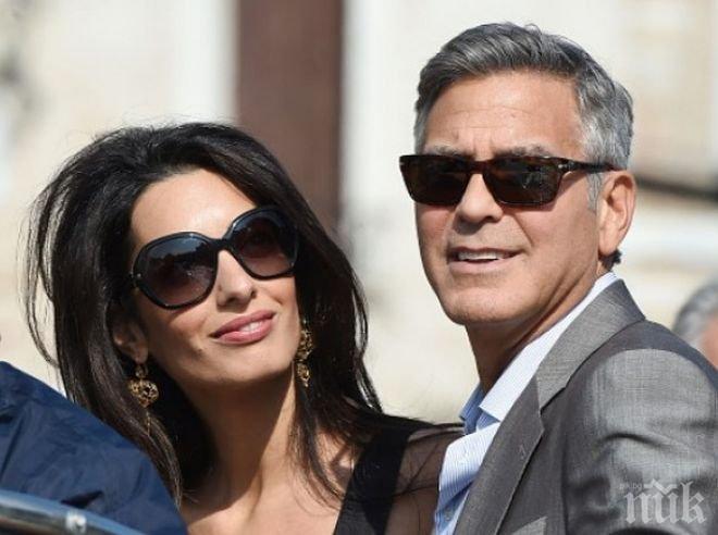 Джордж Клуни и Амал вече се радват на близнаци!