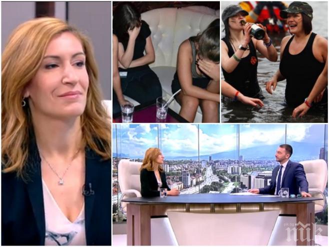 СУТРЕШНИ ИЗЦЕПКИ! Хекимян втрещи Николина Ангелкова с въпрос за евтиния алкохол и евтиния секс по морето