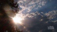 Времето днес! Слънчево с временни увеличения на облачността