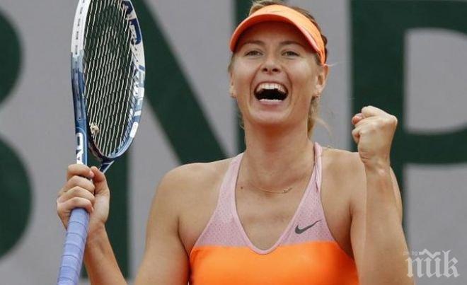 """Мария Шарапова ще участва с """"уайлд кард"""" на турнира в Станфорд в началото на август"""