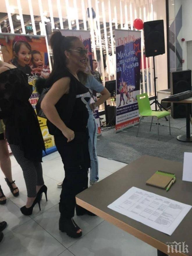 Ивана се появи на детски конкурс за таланти, доведе и кръщелника си