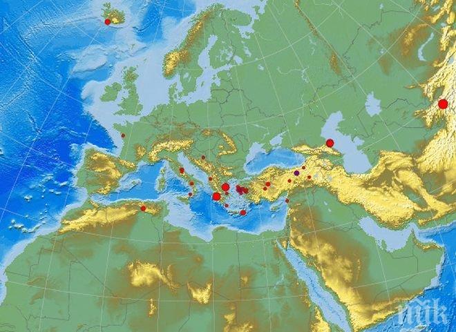 БАЛКАНИТЕ ПРОДЪЛЖАВАТ ДА СЕ ЛЮЛЕЯТ: Нов трус в Турция, този път с магнитуд 3.1