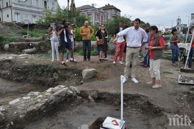 Откриха уникална находка в Епископската базилика в Пловдив