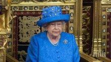 """АНТИ """"БРЕКЗИТ""""! Елизабет II с шапка символ на ЕС, короната й стои до трона"""