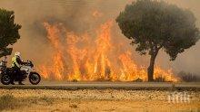Пожар вилня в бургаски квартал, 6 вили, коли и стопански постройки са изгорели