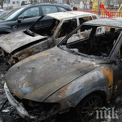 ИНЦИДЕНТ! Четири коли са изгорели във Варна