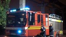 ОГНЕД АД! Кола се запали до бензиностанция в София