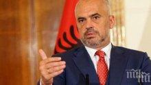 На четири очи! Премиерът на Албания и президента на Турция обсъдиха общи проекти