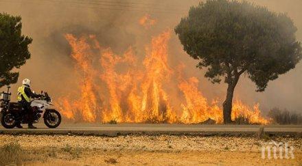 пожари върлуват южна италия стотици туристи сицилия евакуирани