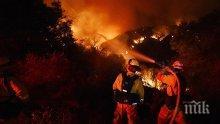 ИЗВЪНРЕДНО! 250 души се борят с големия пожар в Стара Кресна