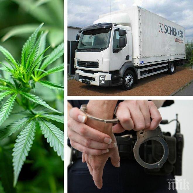 ИЗВЪНРЕДНО В ПИК! Арестуваха български шофьор с пълен с дрога камион