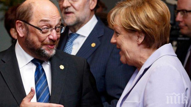 СТАВА НАПЕЧЕНО! Мартин Шулц попиля Ангела Меркел, че нямала план за действие