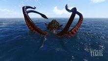Уловиха гигантски калмар до бреговете на Пелопонес (СНИМКА)