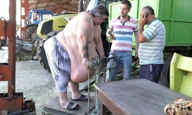 """НЕВЕРОЯТНА ИСТОРИЯ! Тайната на най-дебелия българин - скариди и хайвер на корем! Драмата на 259-килограмовия бивш барман в """"Шератон"""" Гриша е страшна - зъбите му опадаха, седи сам вкъщи пред телевизора"""