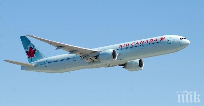 Спукана гума на колесник върна самолет от Лондон за Торонто