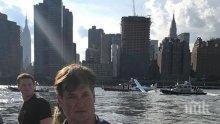 Екшън! Хидроплан се приводни принудително в пролива Ийст Ривър