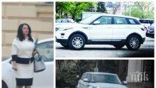 """САМО В ПИК И """"РЕТРО""""! Лили Павлова яхна сама мощен джип - министърката на Борисов предпочита да шофира, вместо да я вози НСО (ПАПАРАШКИ СНИМКИ)"""