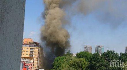 инцидент горял склад столицата пострадали
