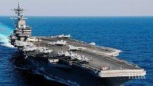Новият самолетоносач на американския флот пристигна във Великобритания за общи учения