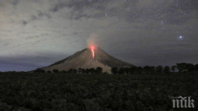 Вулкан в Индонезия изригна мощно и покри няколко села с пепел (ВИДЕО+СНИМКИ)