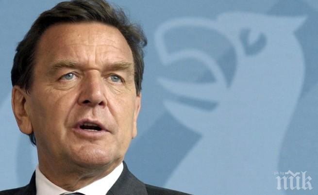 Русия номинира бившия германски канцлер Герхард Шрьодер за борда на директорите на Роснефт