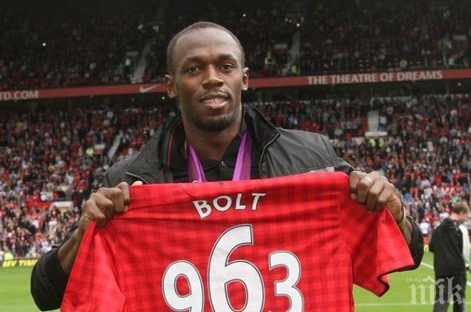 Болт ще играе за легендите на Манчестър Юнайтед срещу Барселона