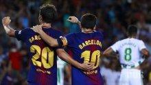 """Барселона се отърси от кошмара с победа, Меси """"потроши"""" гредите (СНИМКИ)"""