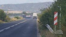 ВАЖНО! До два часа отварят пътя край Пловдив, където изгоря камиона с бутилки метан