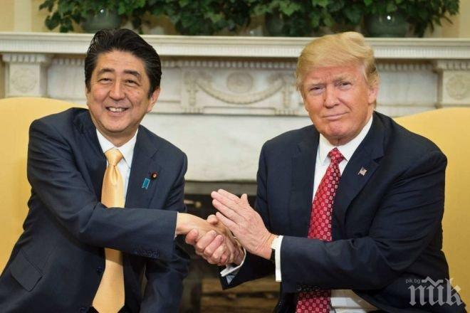 Тръмп и Шиндзо Абе разговаряха два пъти заради ядрените опити на Северна Корея