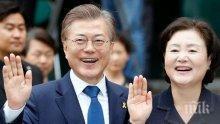 Президентът на Южна Корея призова Русия да спре износа на нефт за Северна Корея