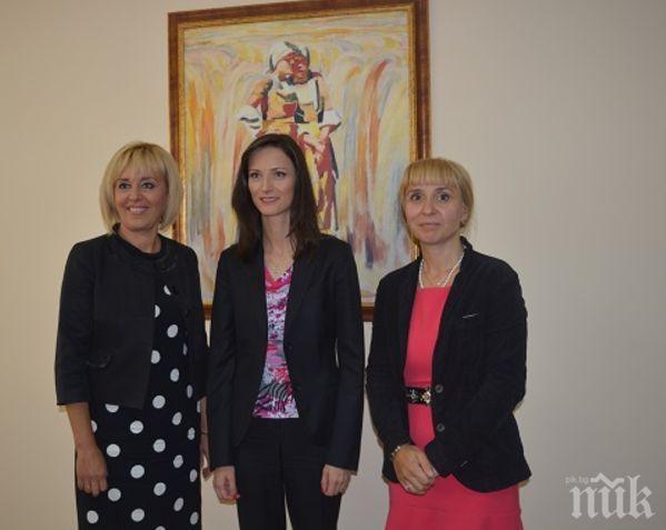 Мария Габриел подкрепи омбудсмана Мая Манолова в борбата й срещу двойния стандарт при храните