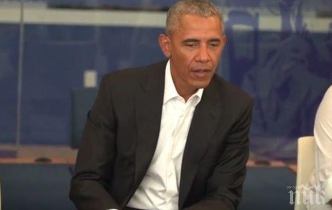 Барак Обама шокира деца в училище във Вашингтон с изненадващата си поява (СНИМКИ)